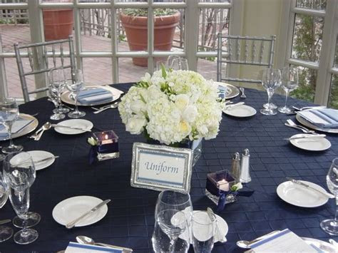 best wedding ideas: Lovely Navy Blue Wedding Centerpieces