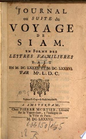 Telecharger Journal Du Voyage De Siam Francais Pdf