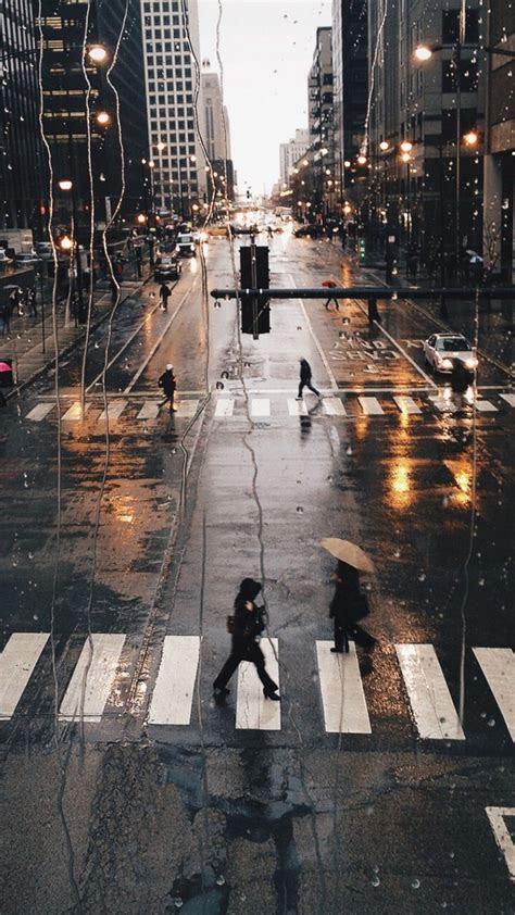 rainy city iphone  wallpaper iphonewallpapers