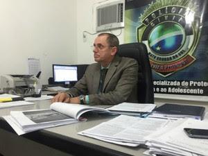 Delegado Paulo Sérgio Lauretto, titular da Depca (Foto: Dyego Queiroz/ TV Morena)