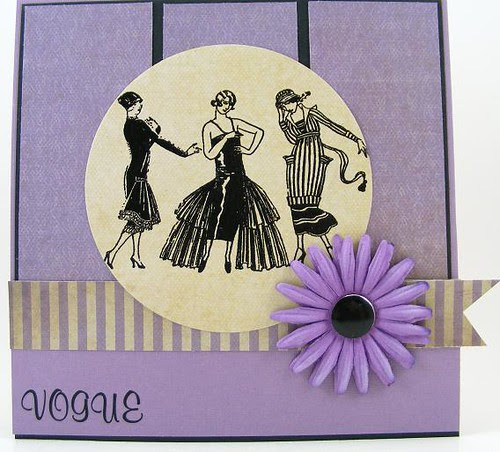 Lavender Vogue Card