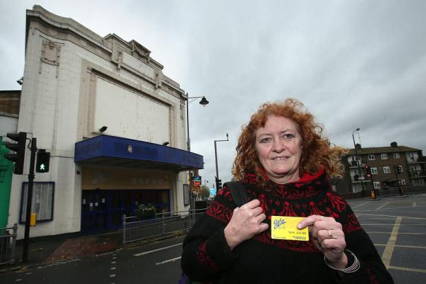 Katy Andrews by the former Savoy cinema, which has been sold to a Christian group.