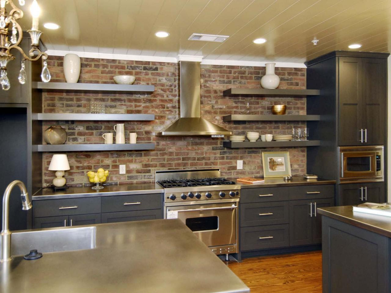 Images of Beautifully-Organized Open Kitchen Shelving ...