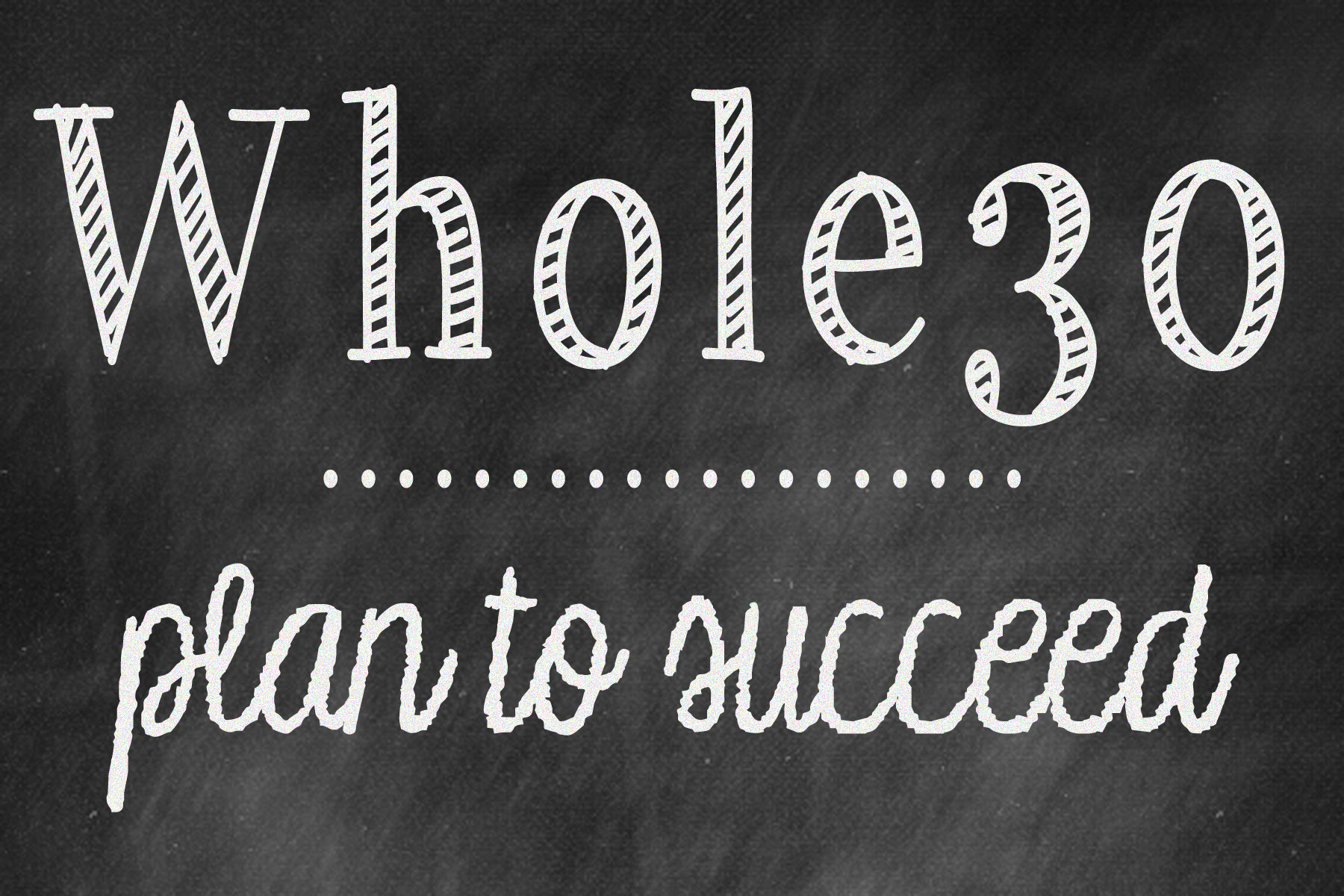 Whole30 plan to succeed