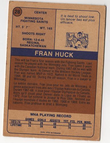 Fran Huck back
