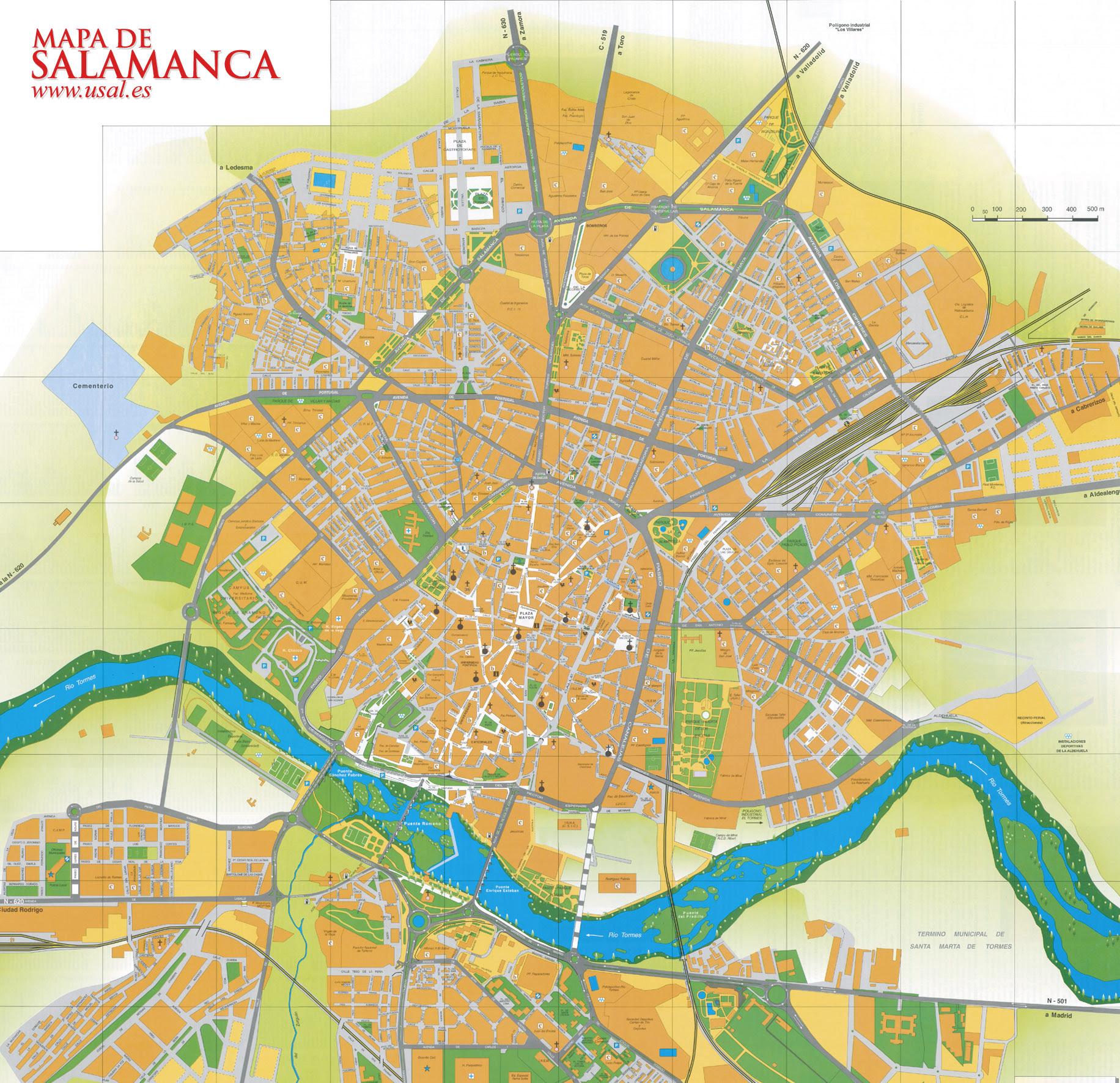 Mapa de Salamanca