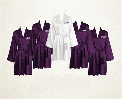 Set of 9 Bridal Robes, Maid of Honor Robe, Wedding Party