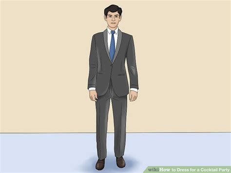 ways  dress   cocktail party wikihow