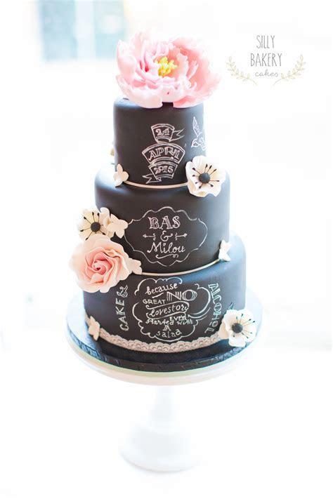 Chalkboard Wedding Cake Design   CakeCentral.com