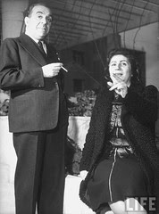 Mohamed El Sayed Shahine (Bey), the Mayor of Cairo, w. his wife.1940