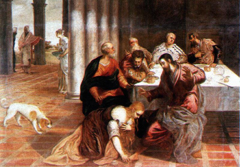 Archivo:Christus im Hause des Pharisäers Jacopo Tintoretto.jpg