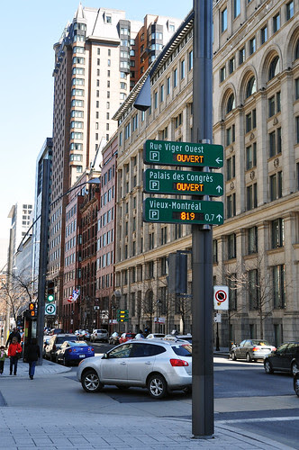 Electronic Parking Signs
