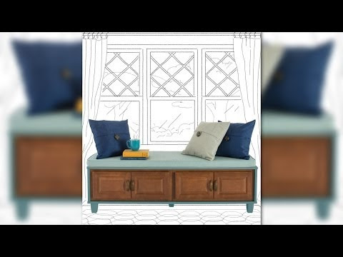DIY Bench Seat with Storage Plans