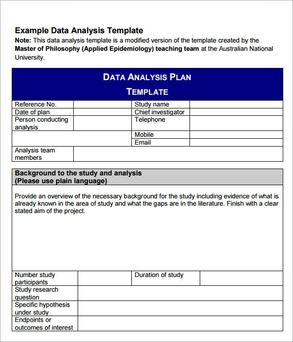 Data Analysis Template