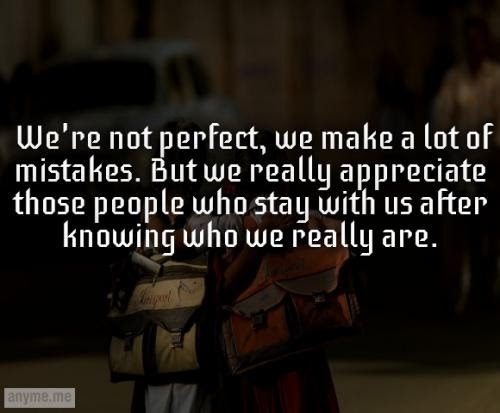 Were Not Perfect We Make A Lot Of Mistakes But We Really