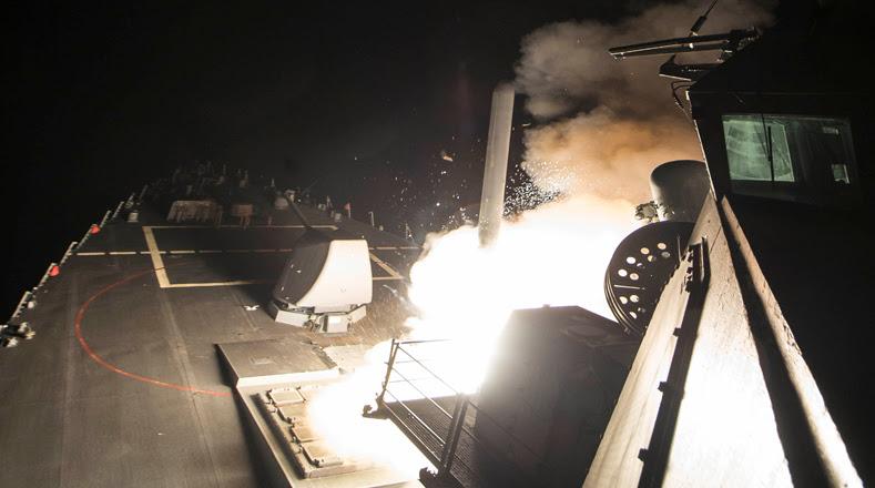 El lanzamiento de los misiles fue hecho desde el mar Mediterráneo.