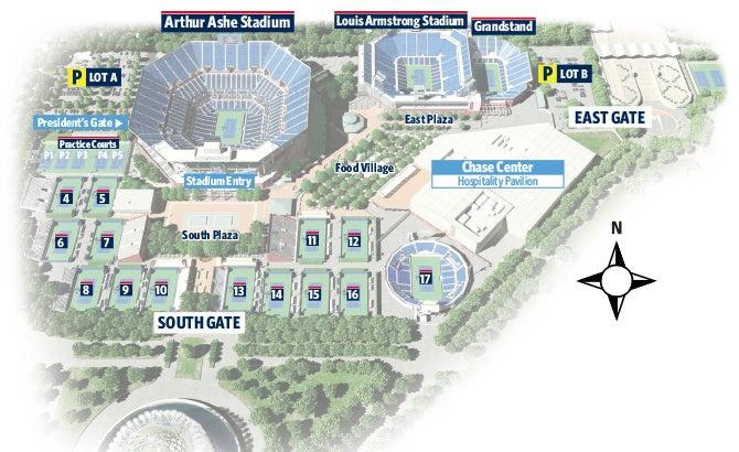 Us Open Tennis Grounds Map