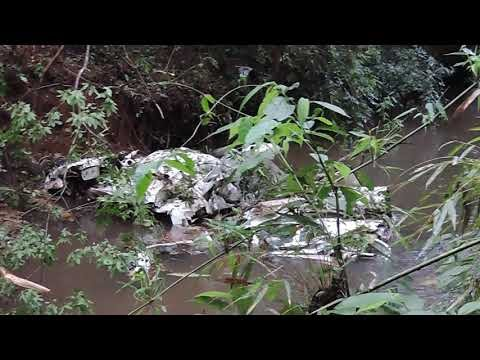 Avião de pequeno porte cai na divisa dos municípios de Roncador e Mato Rico