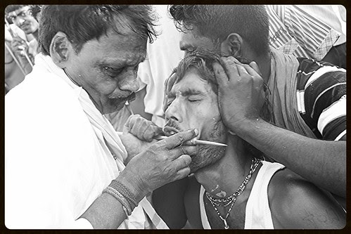 Hardcore Cheek Piercing ,, Marriammen Feast Mumbai Juhu by firoze shakir photographerno1