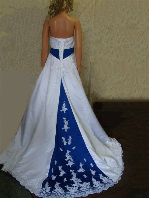 royal blue wedding dress   Sang Maestro
