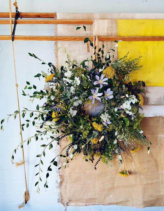 Wreaths Fresh Foraged And Dried Floral Arrangements Terri Chandler Modern Craft