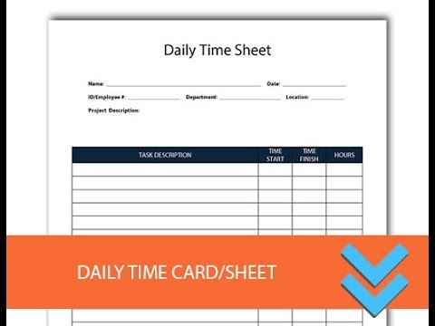 Free Daily Time Record Form - Freedform.com - YouTube