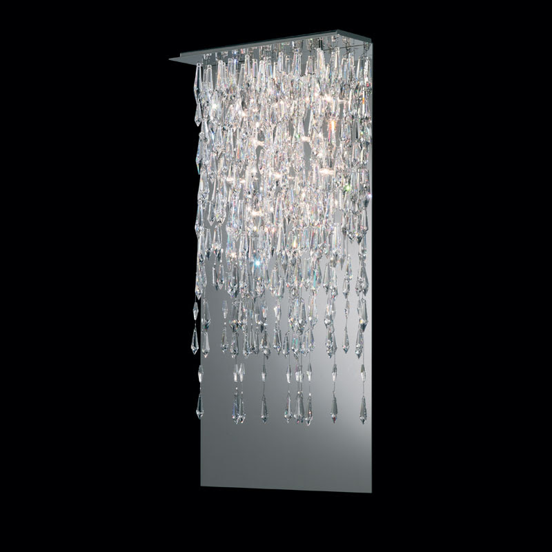 Crystalline Icicles Wall Sconce by Swarovski Centerpieces   SCR615-