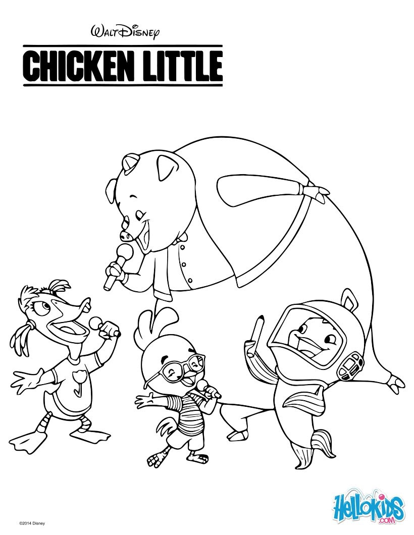 92 Top Coloring Pages Chicken Little  Images