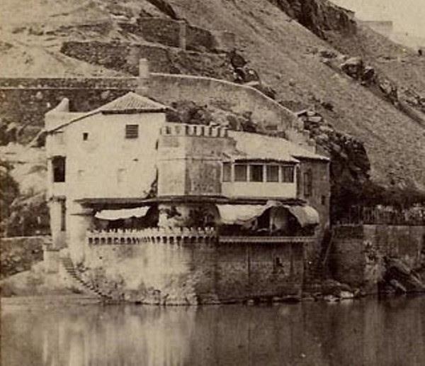 Casa del diamantista hacia 1860. Detalle de una fotografía estereoscópica