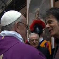 Pietro Orlandi con Papa Francesco
