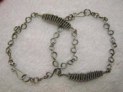 wire coil bracelets