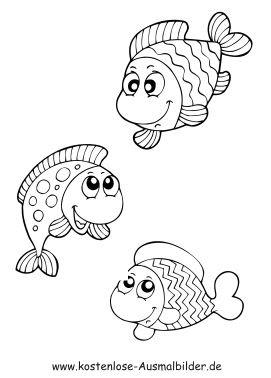 fische zum ausmalen - ausmalbilder
