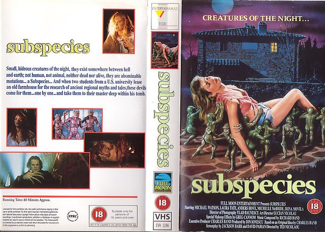 SUBSPECIES (VHS Box Art)