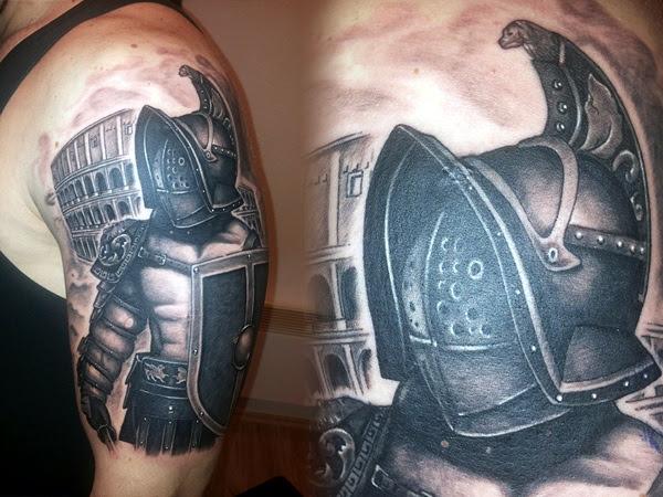 Valiant Gladiator Tattoo Designs (23)