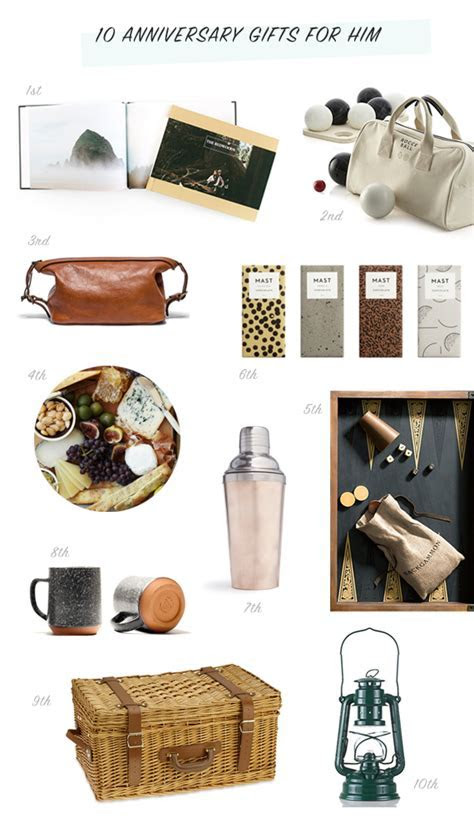 Anniversary gifts for him   Anniversary gift ideas   100