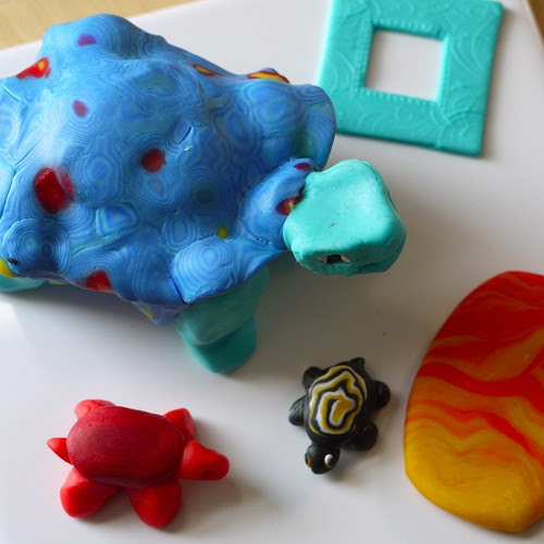 Polymer clay tortoises or turtles...