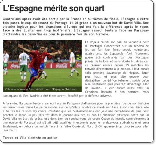 http://www.sports.fr/cmc/coupe-du-monde-2010/201026/l-espagne-merite-son-quart_292705.html