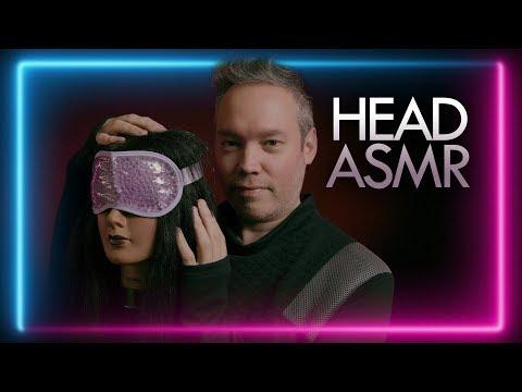 ASMR BINAURAL HEAD ATTENTION   Scalp Massage, Head Scratching, Brushing & YOLANDA! (8K)