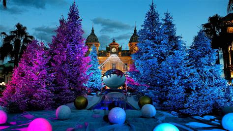full hd wallpaper christmas tree front view monaco ball