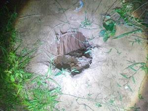 Túnel foi encontrado ao lado do Pavilhão 1. (Foto: Divulgação/PM)