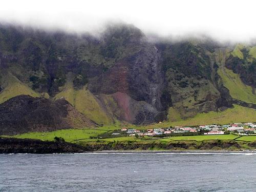 Tristão da Cunha - vista geral do povoado