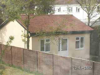 a 'bungalow' in a back garden