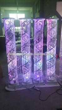 Illuminated Modern Wedding Crystal Decoration Pillar