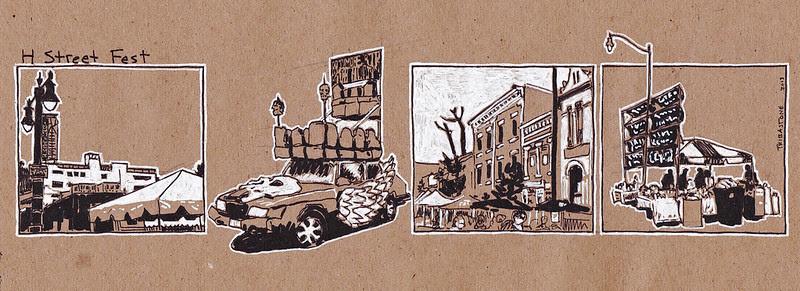H Street sketch strip