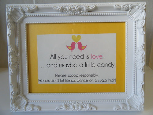 Lolly Buffet Sign