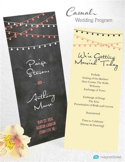Wedding Program Wording   MagnetStreet Weddings
