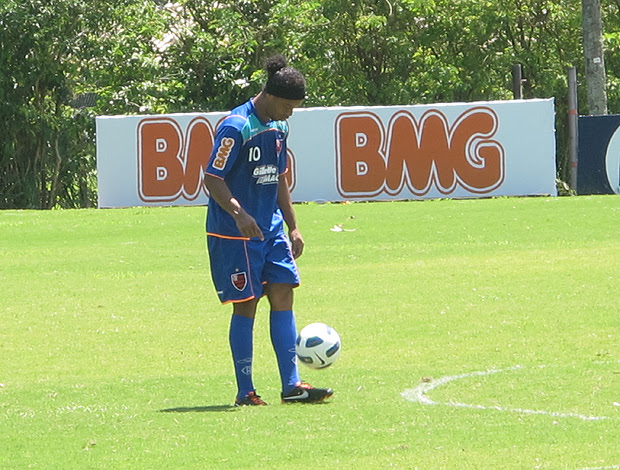 Ronaldinho treino Flamengo (Foto: Richard Souza / Globoesporte.com)