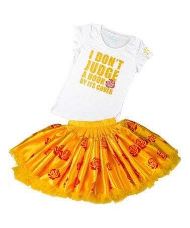 This Yellow Belle Disney Tee & Tutu is perfect! #zulilyfinds