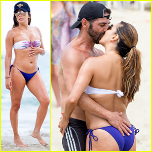 Eva Longoria Flaunts PDA with Her Husband During Beach Volleyball Game!