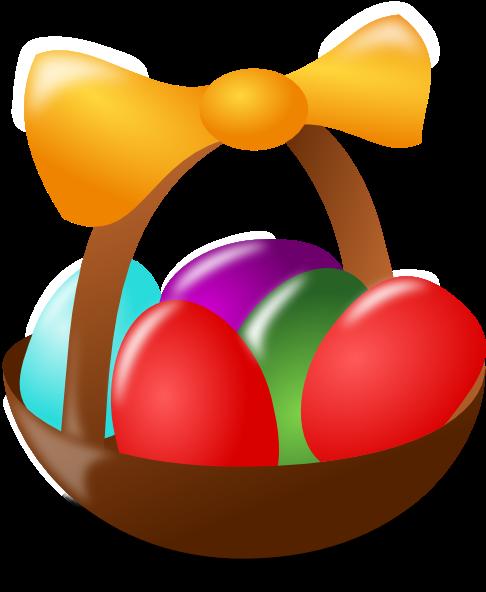 easter eggs in a basket pictures. Easter Egg Basket
